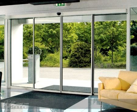Rose Wood Furniture Automatic Sliding Glass Door