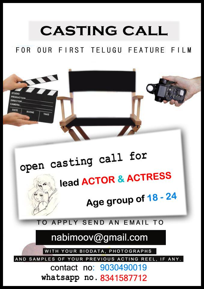 Art Director Assistant Auditions Action Choreographer Cameraman Casting Call Cinema Chance CINEMATOGRAPHER Comedians Dancers District