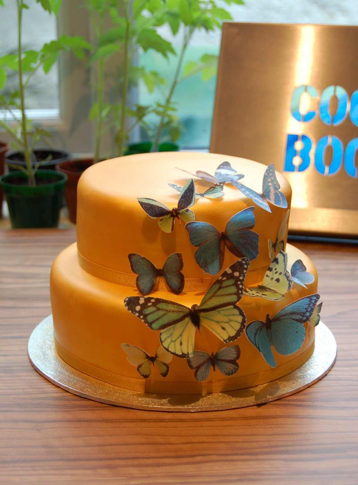 This Was A Fairly Straightforward Cake To Make As All The Impact Comes From Butterflies Themselves I Started With An 8 And 6 Round Cakes Which Were