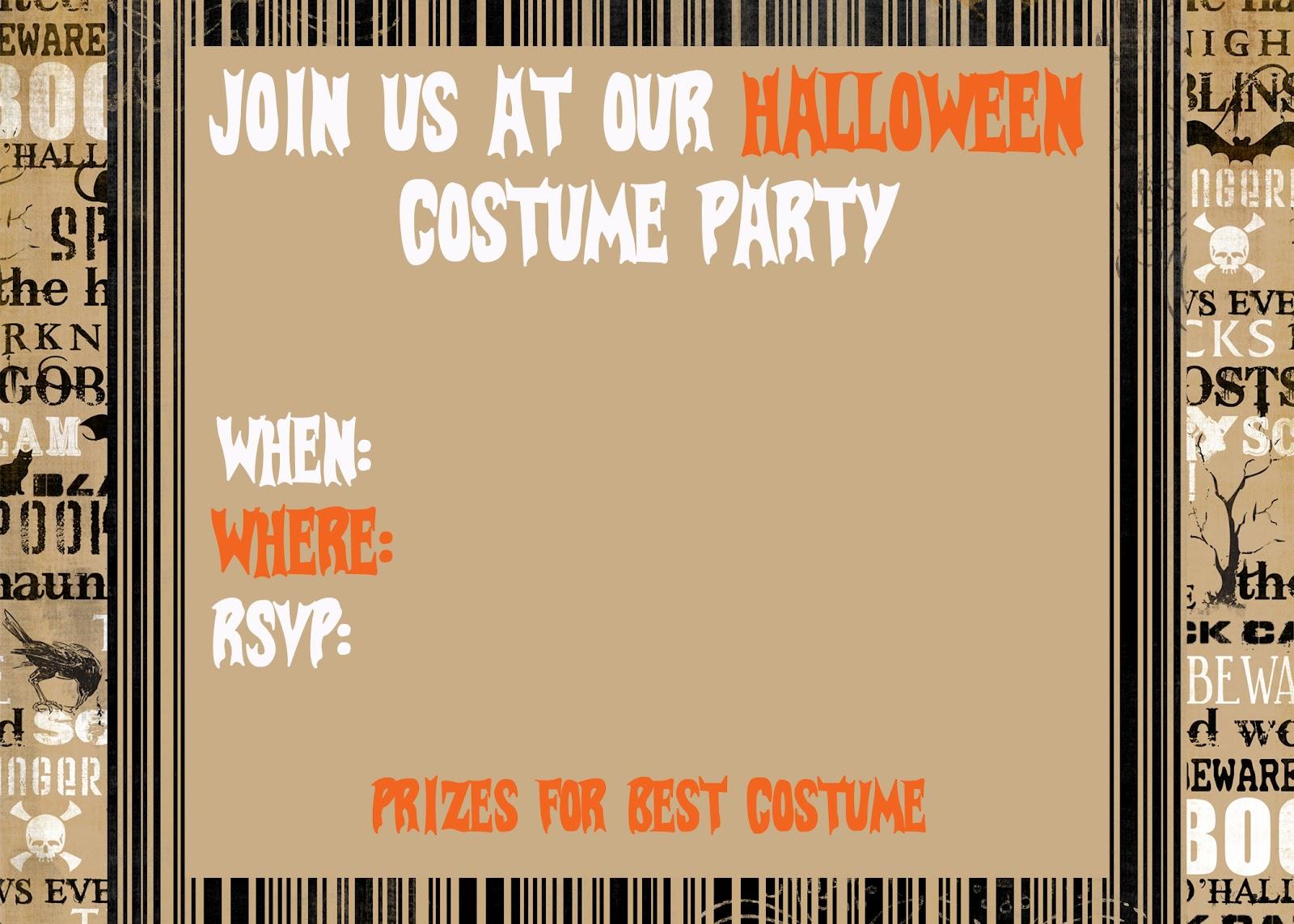 Free Printable Halloween Party Invitations Templates {free} printable ...: pixgood.com/free-printable-halloween-party-invitations-templates.html