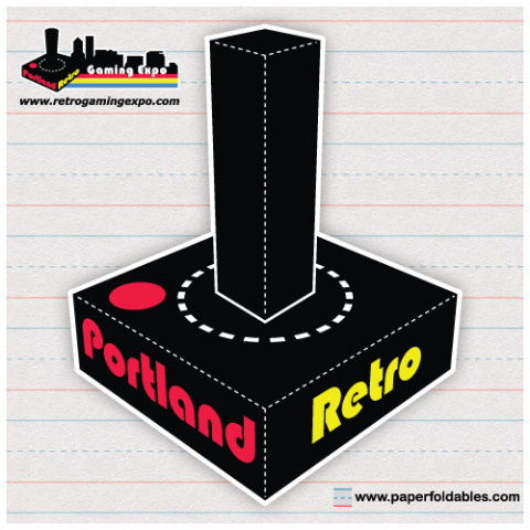 Portland Retro Gaming Expo Papercraft
