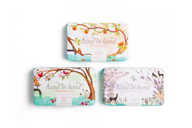 hand in hand soap packaging designed by emma block