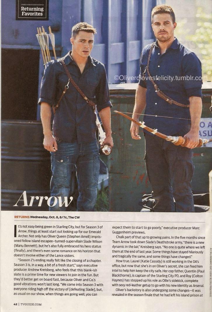 Arrow - Season 3 - TVGuide Scans