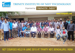 Participants - NDT Level II Courses held in India at Trinity NDT in June 2015