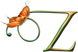 letra Z con mariposa para imprimir