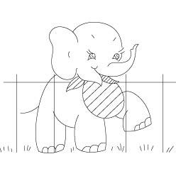 Risco para pintura de Elefante