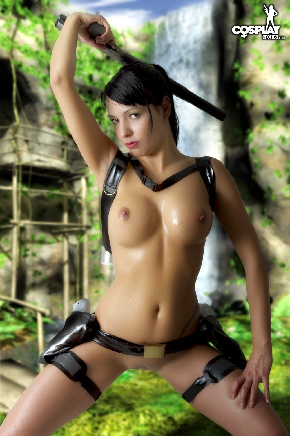 Sexy tomb raider cosplay nude erotic photos