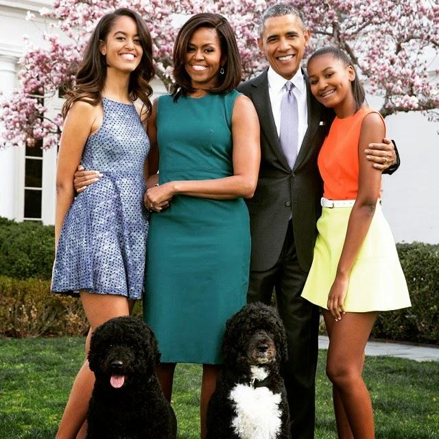 Résultat d'images pour Barack Obama famille