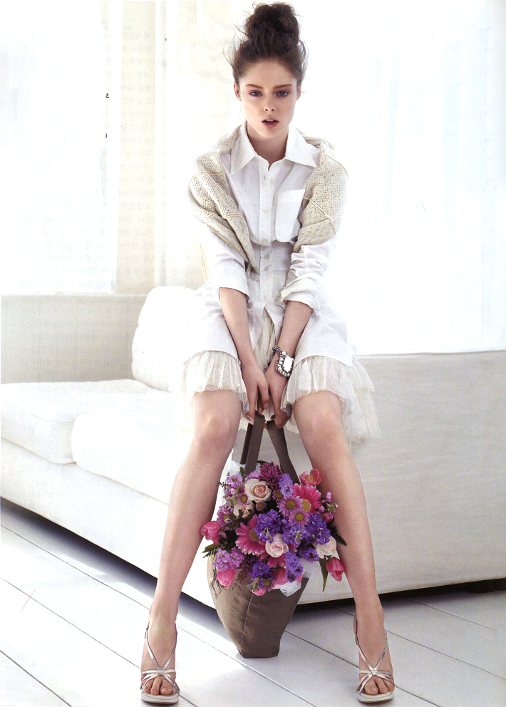Coco Rocha wearing Louis Vuitton Spring/Summer 2007 photographed by Alex Cayley for Vogue Korea May 2007 via fashioned by love british fashion blog