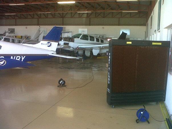 Aircraft Hangar Ventilation : Portool portable evaporative cooling
