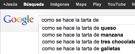 Ejemplo Google Instant 2