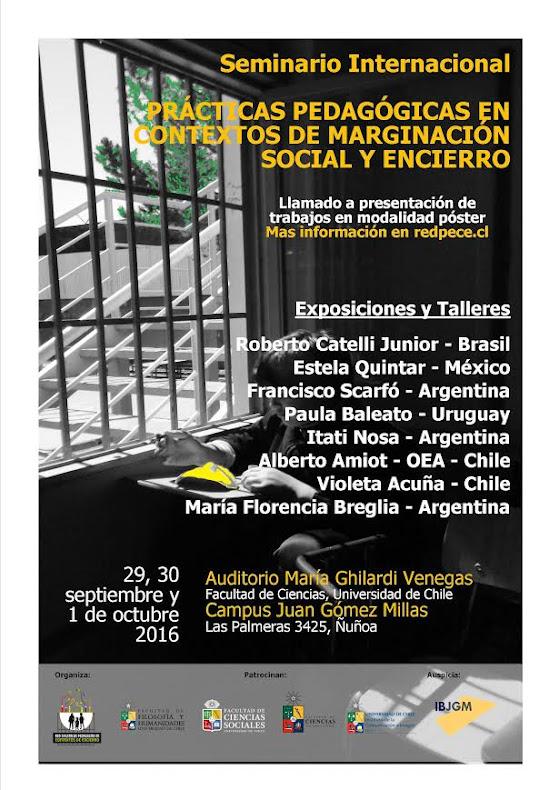 ÑUÑOA: SEMINARIO INTERNACIONAL PRACTICAS PEDAGÓGICAS EN CONTEXTOS DE MARGINACION SOCIAL Y ENCIERR