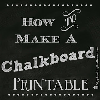 Create Chalkboard Art