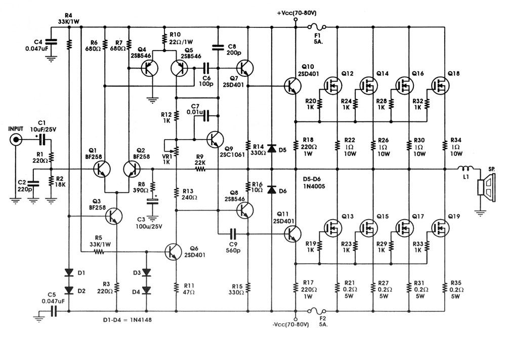 400 Watts Mosfet Amplifier