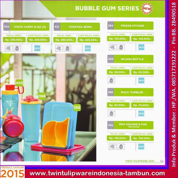 Bubble Gum Series, Stack Carry & Go, Cocktail Bowl, Fridge Pitcher, Splash Bottle, Multi Tumbler, Midi Square & Fun
