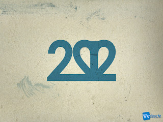 2012 Text Typography Blue Texture HD Wallpaper