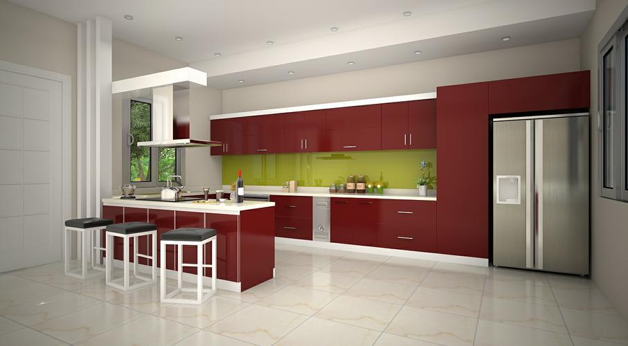 Kết quả hình ảnh cho tủ bếp acrylic là gì