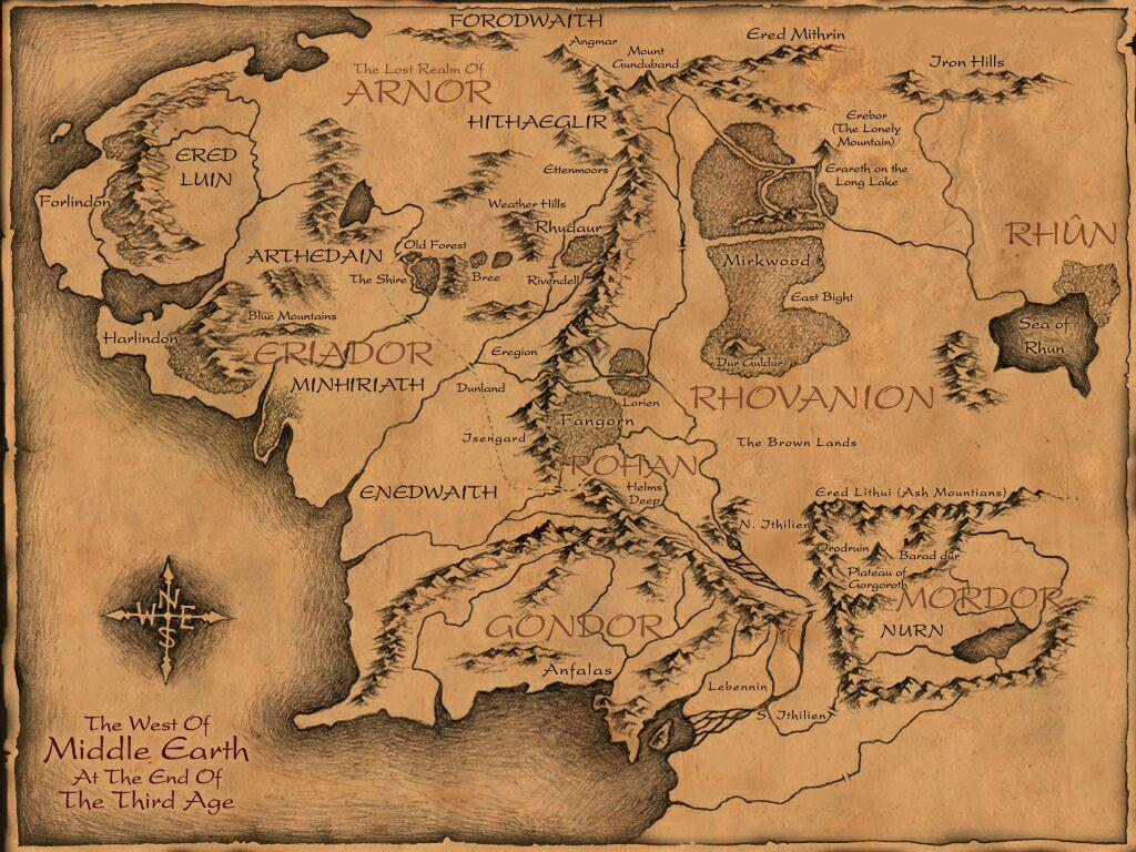 great map of middleearth pics