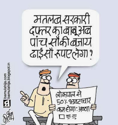 lokpal cartoon, jan lokpal bill cartoon, anna hazare cartoon, corruption cartoon, corruption in india, cartoons on politics, indian political cartoon, political humor
