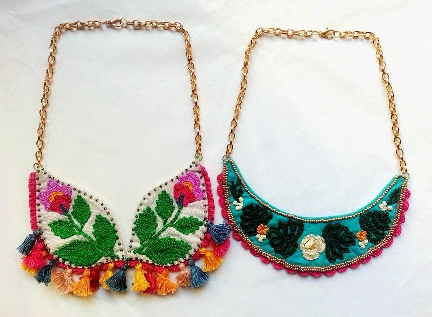 Atractivo Crochet Patrón De Collar Babero Festooning - Ideas de ...