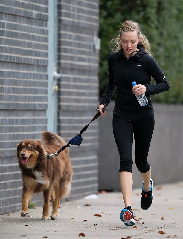 Amanda Seyfried out for a jog in New York