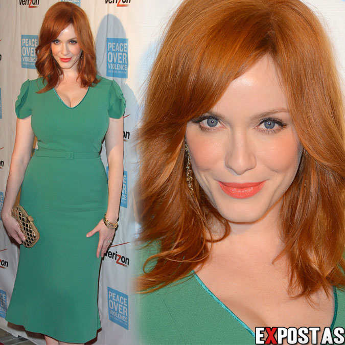 Christina Hendricks: Peace Over Violence Humanitarian Awards em Beverly Hills - 26 de Outubro de 2012