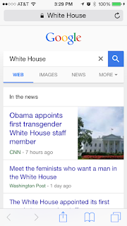 Siri Google Search White House