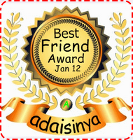 Awards Best Friend Jan 2012