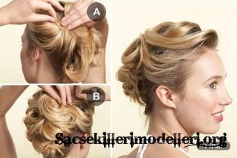 Kolay basit düğün saç modelleri kolay gelin saçı modelleri