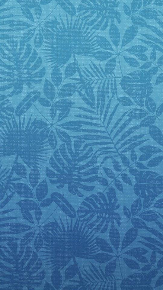 Leaves Pattern Blue  Galaxy Note HD Wallpaper