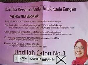 naib ketua Wanita Umno Datuk Kamilia Ibrahim.