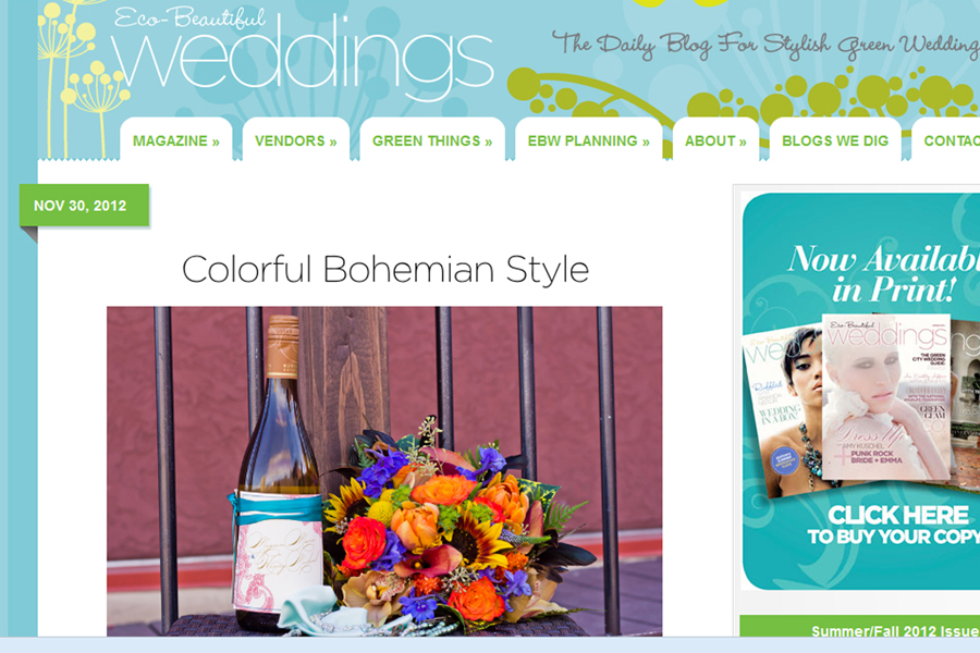 erin leigh studio featured on eco-beautiful weddings