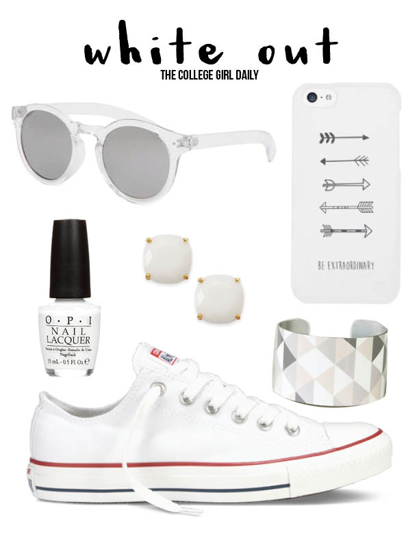 summer, accessories, white, color, nails, nail polish, phone, phone case, sunglasses, white sunglasses, earrings, kate spade, earrings, converse, chucks, white chucks, white converse,