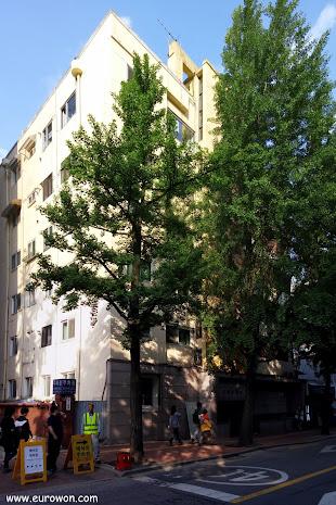 Apartamentos antiguos del centro de Seúl