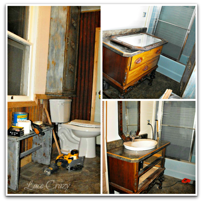 Old House Bathroom Remodel Lace Crazy Old House Bathroom Remodel~