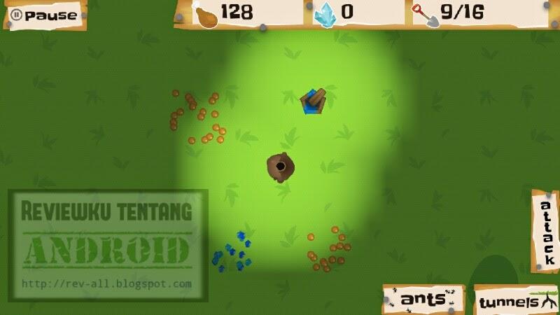 Sarang semut dari atas game android Ant Warz - bangun koloni semut yang kuat dan jadilah pemenang (rev-all.blogspot.com)