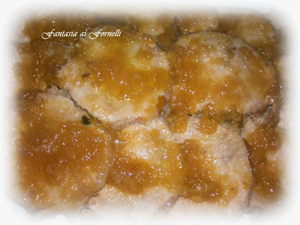 arista di maiale in salsa di mele