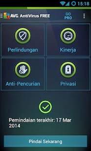 AVG antivirus paling ringan di android
