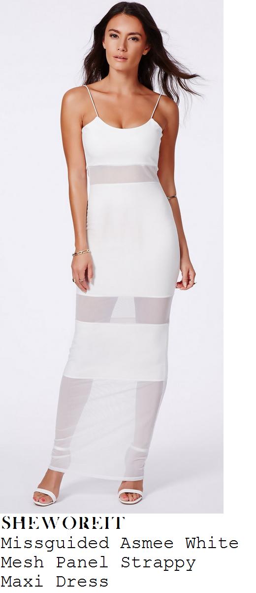 stephanie-davis-white-sleeveless-mesh-panel-cami-strap-bodycon-maxi-dress