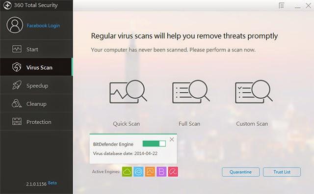 برنامج مجاني للحماية من الفيروسات وتنظيف وتسريع جهازك Total Security 360