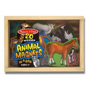 Pre-kindergarten toys - Melissa & Doug 20 Animal Magnets in a Box