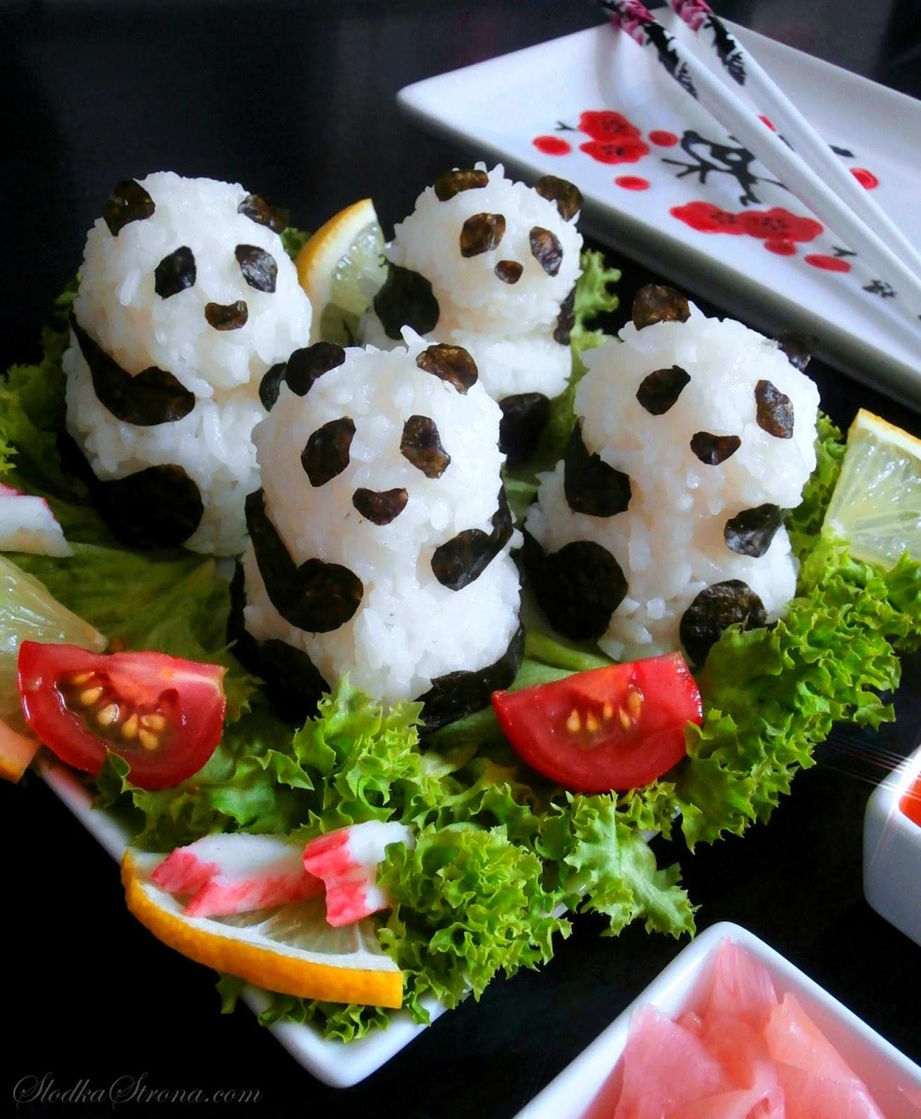 Sushi Panda - Przepis - Słodka Strona