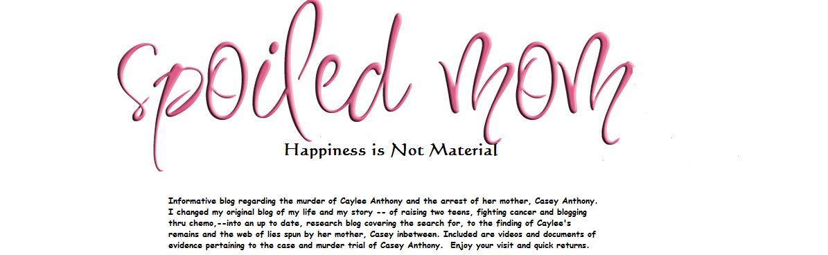 SpoiledMom...Happiness is Not Material (We Interrupt this Blog for The Casey Anthony Saga)
