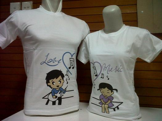 Model Baju Couple Distro Lengan Pendek