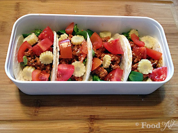 Mexicanisches Bento Tutorial Schritt 5 - Food Art