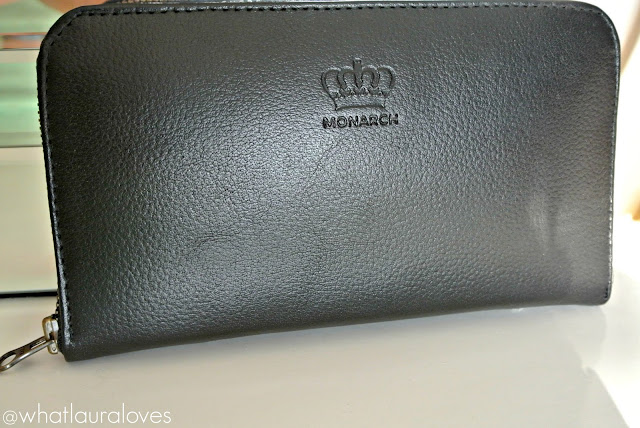 Logo design on the Monarch wallet