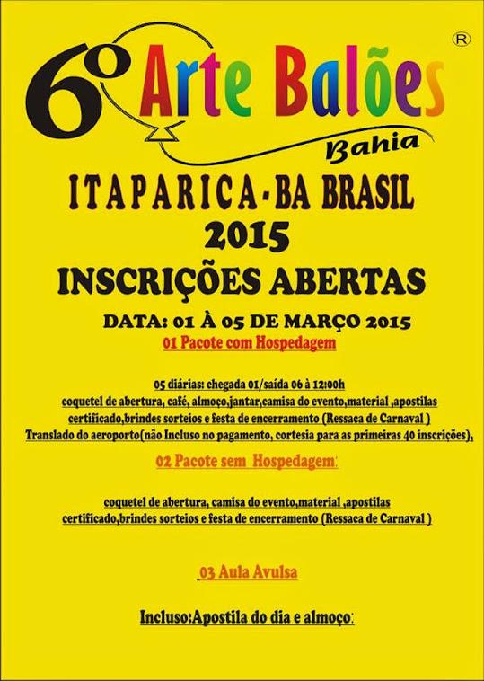 CURSO INTENSIVO DE ARTE COM BALÕES