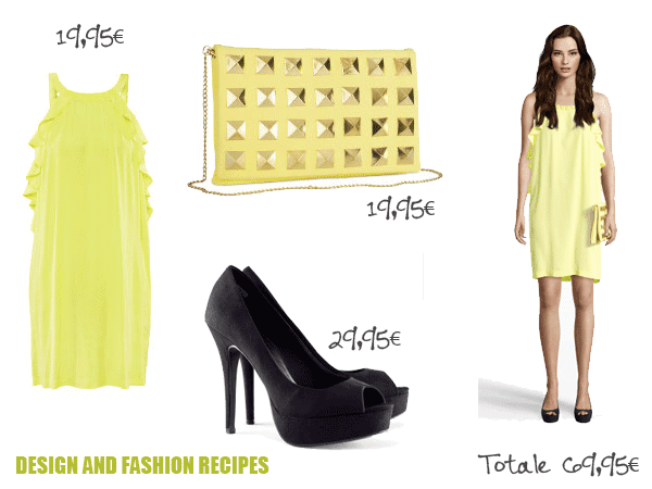 H&M yellow outfit on Design and fashion recipes