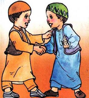 Gambar Kartun Anak Laki-Laki Sholeh