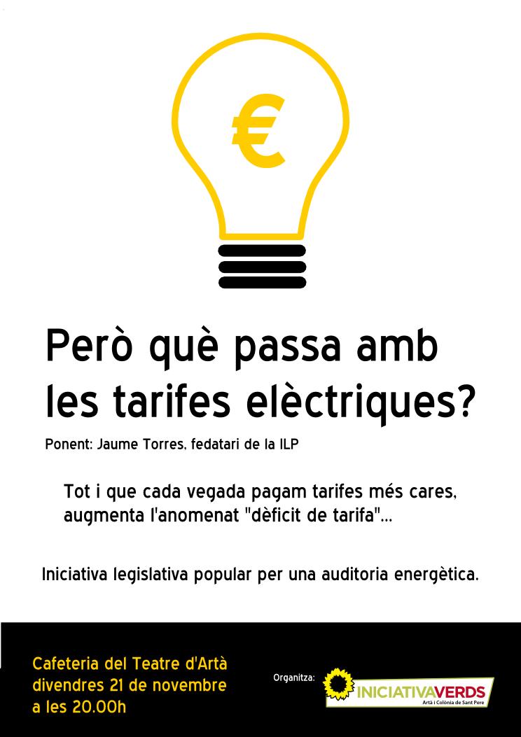 """Presentació a càrrec de Jaume Torres de la ILP """"Per una auditoria energètica"""""""